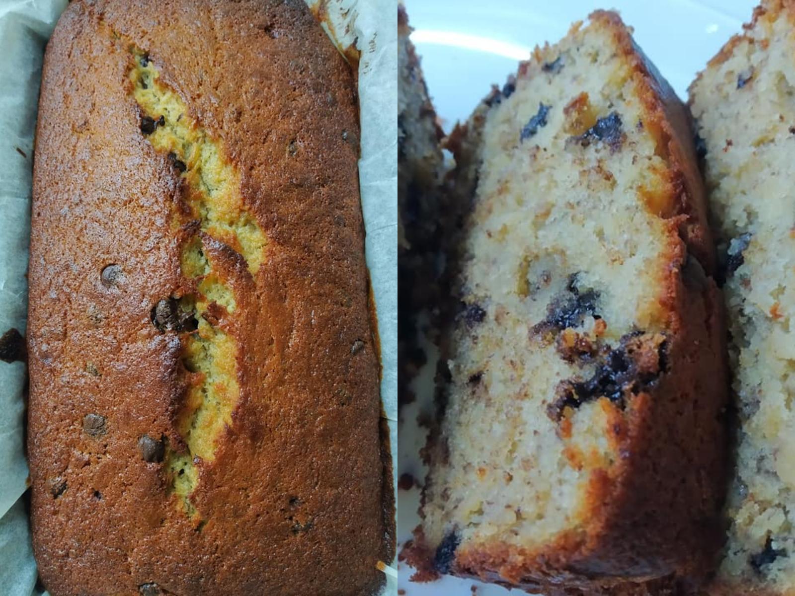 Κέικ- χωρίς- ζάχαρη- με -σταγόνες- σοκολάτας-