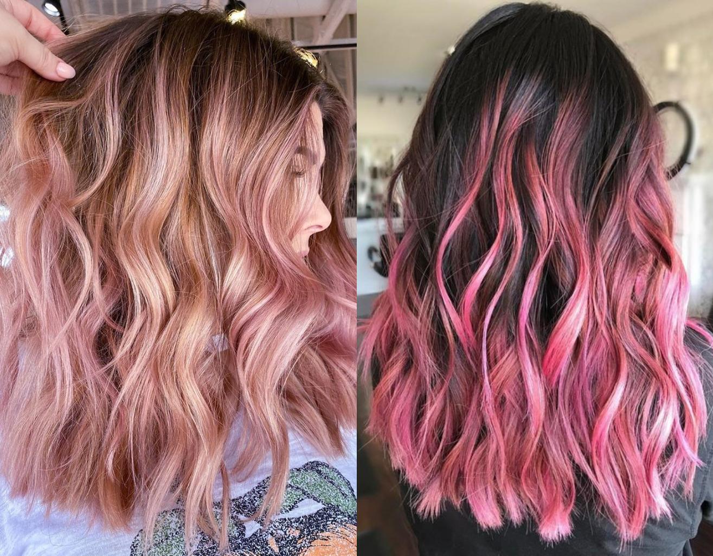 Ροζ ανταύγειες: Η τάση στα μαλλιά για το 2022