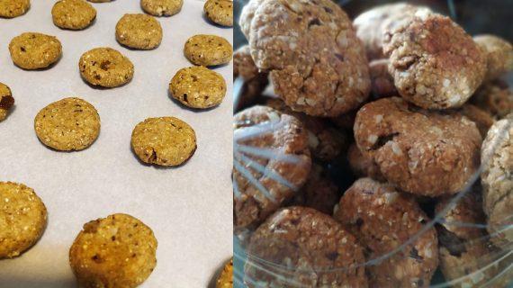 Μπισκότα με ξηρούς καρπούς χωρίς ζάχαρη
