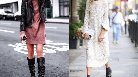 Φορέματα πουλόβερ: Δείτε 15 μοντέρνα σχέδια & χρώματα για τον Χειμώνα